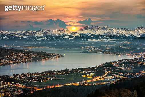Zurich Panorama from Uetliberg - gettyimageskorea
