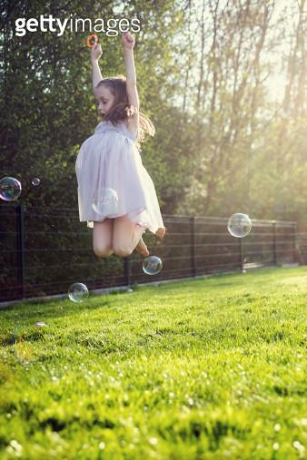 Bubble Jump - gettyimageskorea