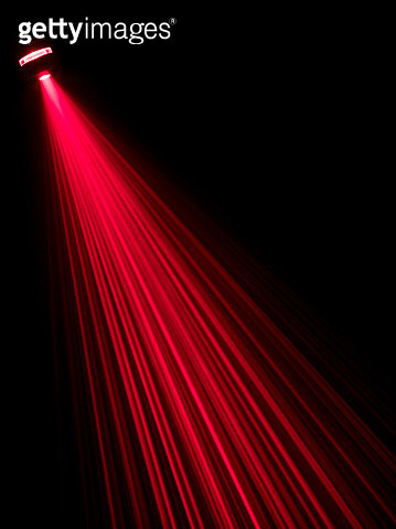 Beams laser of red color on a surface of black color - gettyimageskorea