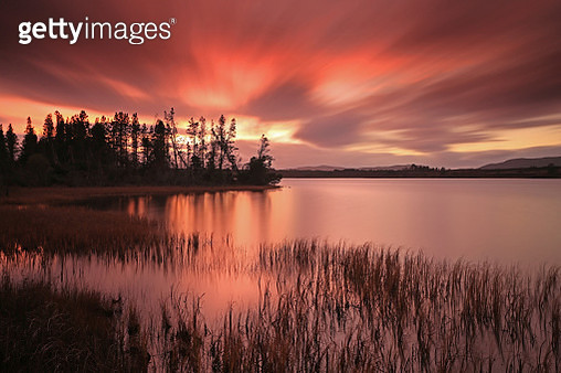 Sunset Reservoir. - gettyimageskorea