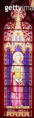 <b>Title</b> : Window depicting Marie-Amelie de Bourbon-Sicile (1782-1866) as St. Amelia, Sevres Workshop (stained glass)Additional Infoseries<br><b>Medium</b> : <br><b>Location</b> : Chapelle Royale, Dreux, France<br> - gettyimageskorea