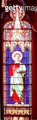 <b>Title</b> : Louis-Philippe (1773-1850) as St. Philip, Sevres Workshop (stained glass)Additional Infoseries of 12 windows commissioned by the<br><b>Medium</b> : <br><b>Location</b> : Chapelle Royale, Dreux, France<br> - gettyimageskorea
