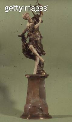 <b>Title</b> : Art Nouveau figure of a dancer with a lyre (bronze and ivory)<br><b>Medium</b> : bronze and ivory<br><b>Location</b> : Private Collection<br> - gettyimageskorea