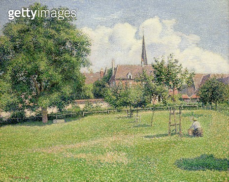 <b>Title</b> : The House of the Deaf Woman and the Belfry at Eragny, 1886 (oil on canvas)Additional InfoLa Maison de la Sourde et le Clocher d'<br><b>Medium</b> : oil on canvas<br><b>Location</b> : Indianapolis Museum of Art, USA<br> - gettyimageskorea