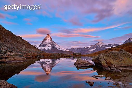 Swiss Alps's Matterhorn at Sunrise, Switzerland - gettyimageskorea