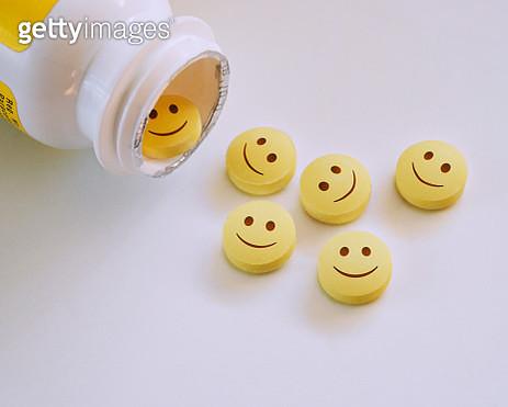 Smiley faced pills. - gettyimageskorea