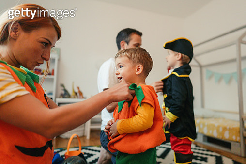 Playing make believe at home - gettyimageskorea