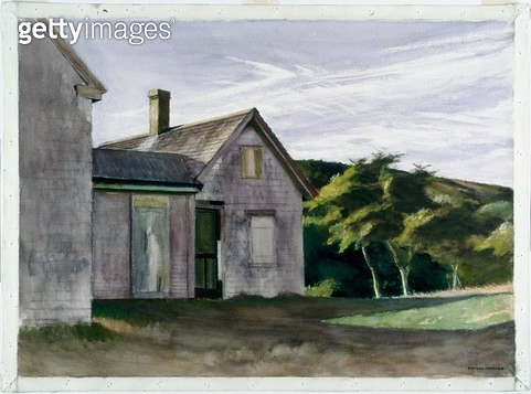 <b>Title</b> : Cobb House (watercolour over graphite on paper)<br><b>Medium</b> : watercolour over graphite on paper<br><b>Location</b> : Worcester Art Museum, Massachusetts, USA<br> - gettyimageskorea