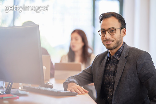 Portrait of businessman in office - gettyimageskorea