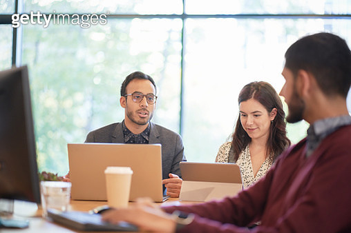 Business people having meeting in office - gettyimageskorea