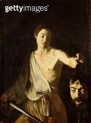 <b>Title</b> : David with the Head of Goliath (oil on canvas)Additional InfoDavid mit dem Haupt des Goliath; copy of 100349;<br><b>Medium</b> : oil on canvas<br><b>Location</b> : Gemaeldegalerie Alte Meister, Kassel, Germany<br> - gettyimageskorea