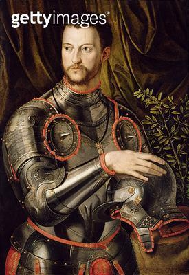 <b>Title</b> : Portrait of Cosimo I, (1519-1574) Grand Duke of Tuscany, c.1550 (oil on panel)Additional InfoOrder of the Golden Fleece; Bildnis<br><b>Medium</b> : oil on panel<br><b>Location</b> : Gemaeldegalerie Alte Meister, Kassel, Germany<br> - gettyimageskorea