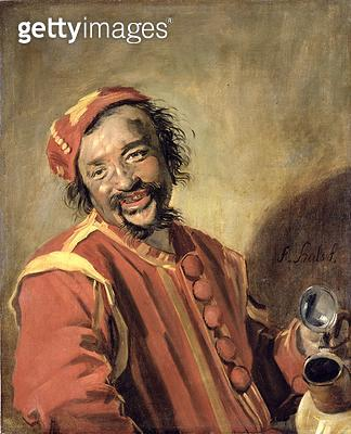 <b>Title</b> : Peeckelhaering (The Jolly Reveller), 1640-43 (oil on canvas)Additional InfoPeeckelhaering (Der lustige Zecher); popular in Germa<br><b>Medium</b> : oil on canvas<br><b>Location</b> : Gemaeldegalerie Alte Meister, Kassel, Germany<br> - gettyimageskorea