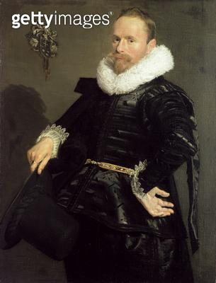 <b>Title</b> : Portrait of a Man, 1618-20 (oil on canvas)Additional InfoBildnis eines Mannes in Dreiviertelfigur;<br><b>Medium</b> : oil on canvas<br><b>Location</b> : Gemaeldegalerie Alte Meister, Kassel, Germany<br> - gettyimageskorea