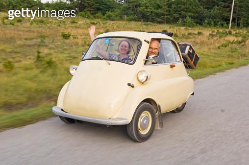 Trip in small vintage car - gettyimageskorea