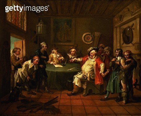 <b>Title</b> : Falstaff Examining his Recruits from Henry IV by Shakespeare, 1730<br><b>Medium</b> : oil on canvas<br><b>Location</b> : Private Collection<br> - gettyimageskorea
