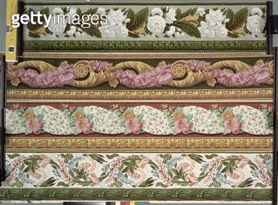<b>Title</b> : Four wallpaper border designs, ca. 1820-1835,<br><b>Medium</b> : <br><b>Location</b> : Deutsches Tapetenmuseum, Kassel, Germany<br> - gettyimageskorea