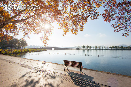 Autumn Colors in the West Lake,Hangzhou,China - gettyimageskorea