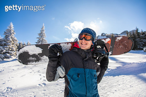 His passion is snowboarding - gettyimageskorea
