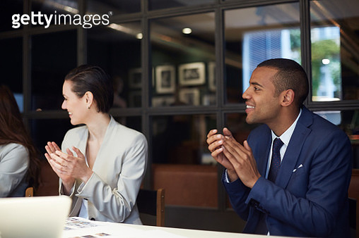 Business meeting and presentation speech. - gettyimageskorea