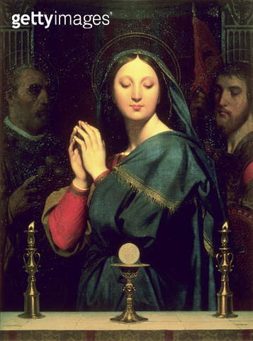 The Virgin with the Host/ 1841 (oil on canvas) - gettyimageskorea