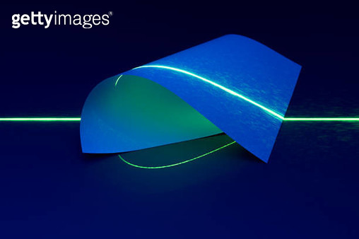 Laser Light Scanning Abstract Paper - gettyimageskorea