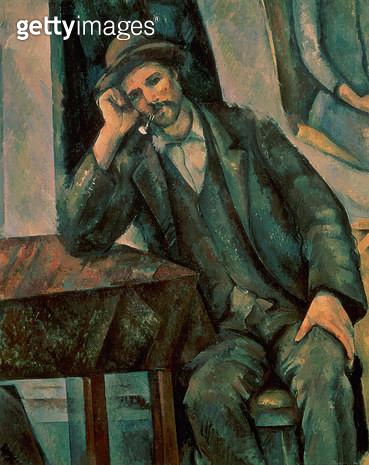 <b>Title</b> : Man Smoking a Pipe, 1890-92 (oil on canvas)<br><b>Medium</b> : oil on canvas<br><b>Location</b> : Pushkin Museum, Moscow, Russia<br> - gettyimageskorea