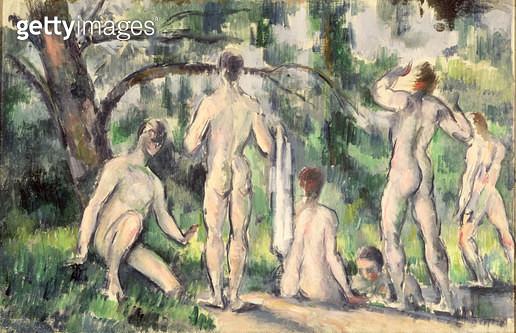 <b>Title</b> : Study of Bathers, c.1895-98 (oil on canvas)<br><b>Medium</b> : oil on canvas<br><b>Location</b> : Pushkin Museum, Moscow, Russia<br> - gettyimageskorea