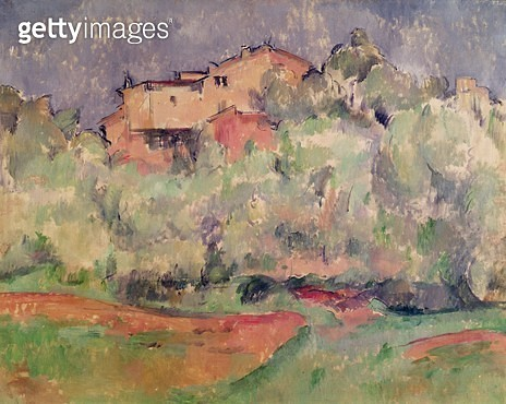 <b>Title</b> : The House at Bellevue, 1888-92 (oil on canvas)Additional Infofarm owned by Cezanne's brother-in-law;<br><b>Medium</b> : oil on canvas<br><b>Location</b> : Museum Folkwang, Essen, Germany<br> - gettyimageskorea