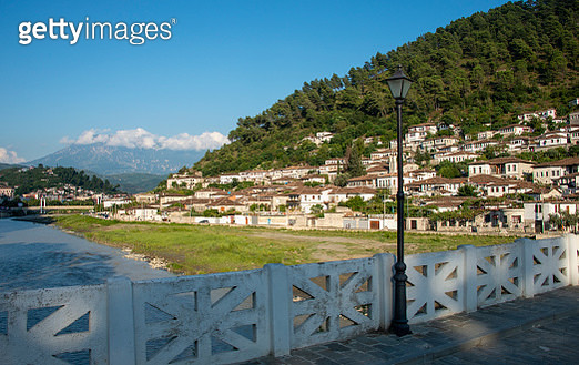 Berat is a city on the Osum River, in central Albania. It's known for its white Ottoman houses. - gettyimageskorea