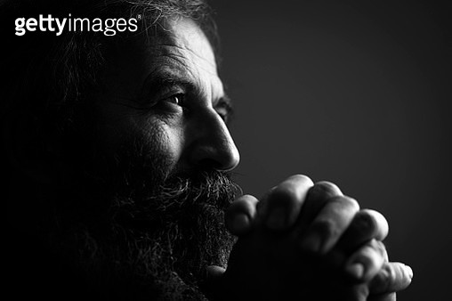 Close-Up Of Man Praying - gettyimageskorea