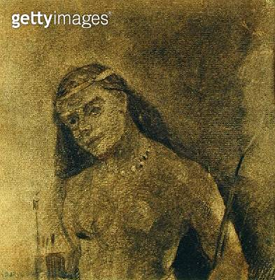 <b>Title</b> : Femme Sauvage (Wild Woman), c.1885-90 (charcoal on paper)<br><b>Medium</b> : charcoal on paper<br><b>Location</b> : On Loan to the Hamburg Kunsthalle, Hamburg, Germany<br> - gettyimageskorea