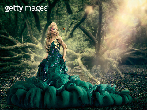 girl wearing liquid dress - gettyimageskorea