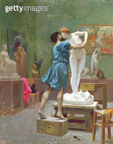 <b>Title</b> : Pygmalion and Galatea (oil on canvas)<br><b>Medium</b> : oil on canvas<br><b>Location</b> : Private Collection<br> - gettyimageskorea