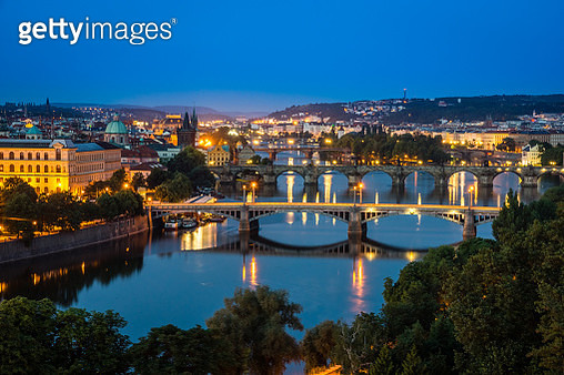 Night View On The Prague City, Czech Republic - gettyimageskorea