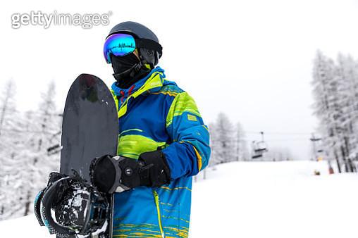 Snowboarder portrait - gettyimageskorea