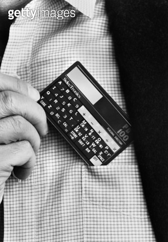 POCKET CALCULATOR, c1986. /nSelectronics PD-100 Personal Directory. Photographed c1986. - gettyimageskorea