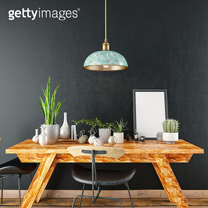 Mockup Frame with Table and Decors - gettyimageskorea