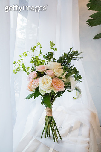 A bunch of pink roses - gettyimageskorea