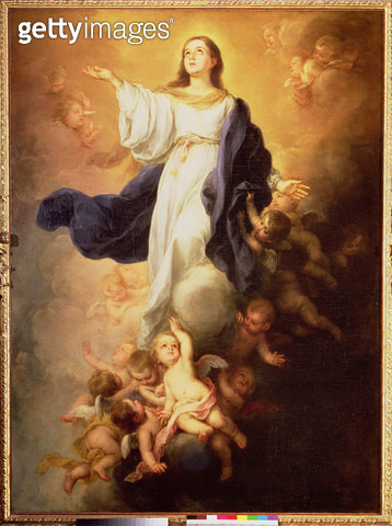 The Assumption of the Virgin/ 1670s (oil on canvas) - gettyimageskorea