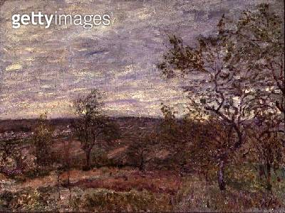 <b>Title</b> : Windy Day at Veneux, 1882<br><b>Medium</b> : oil on canvas<br><b>Location</b> : Hermitage, St. Petersburg, Russia<br> - gettyimageskorea