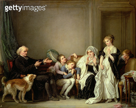 A Visit to the Priest/ 18th century (oil on canvas) - gettyimageskorea