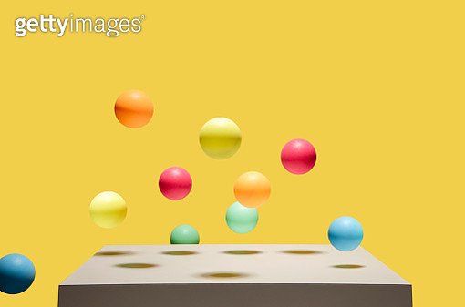 colorful balls bouncing - gettyimageskorea
