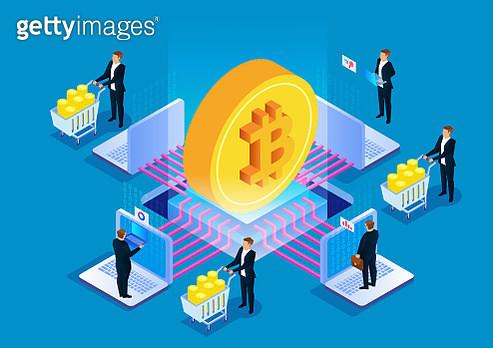 Bitcoin blockchain technology, digital currency mining - gettyimageskorea