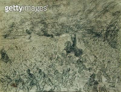 <b>Title</b> : Joshua stops the Sun, 1885 (pencil on paper)Additional Infowar leader of the Israelites;<br><b>Medium</b> : pencil on paper<br><b>Location</b> : On Loan to the Hamburg Kunsthalle, Hamburg, Germany<br> - gettyimageskorea