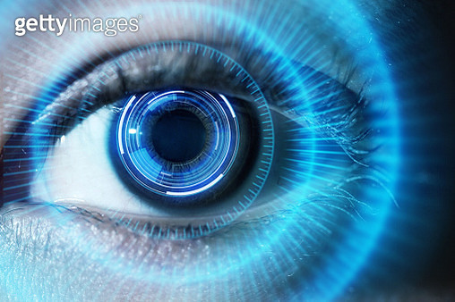 Human eye with using the futuristic technology - gettyimageskorea