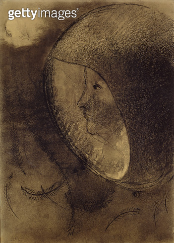 <b>Title</b> : Cellular Face, 1895 (charcoal on paper)<br><b>Medium</b> : charcoal on paper<br><b>Location</b> : On Loan to the Hamburg Kunsthalle, Hamburg, Germany<br> - gettyimageskorea