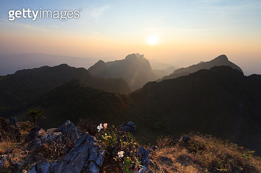 Landscape High Mountain Sunset At Doi Luang Chiang Dao - gettyimageskorea