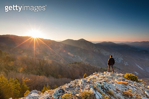 Clear Sunset in the mountain - gettyimageskorea