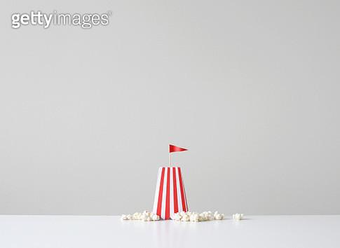 Conceptual sand castle on the beach - gettyimageskorea
